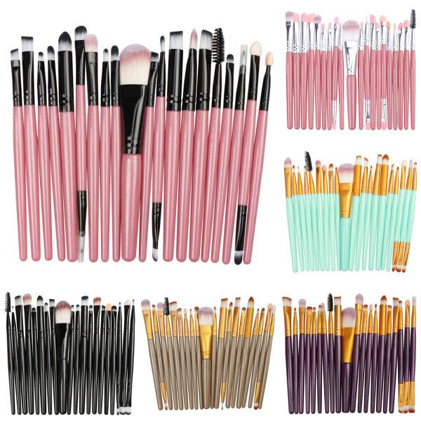 Makeupborstar Powder Blusher Set Eyeshadow Eyelash Tools Pink-Black