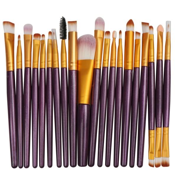 Makeupborstar Powder Blusher Set Eyeshadow Eyelash Tools Purple-Gold