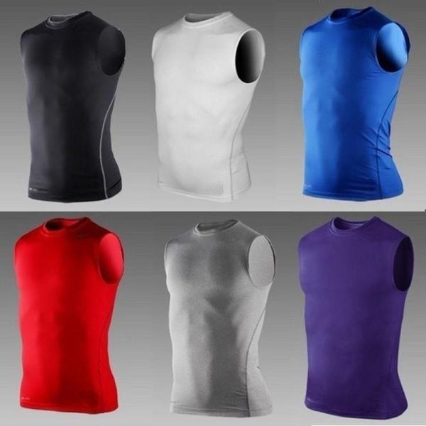 Män Bodybuliding Running Vest Stretch light grey M