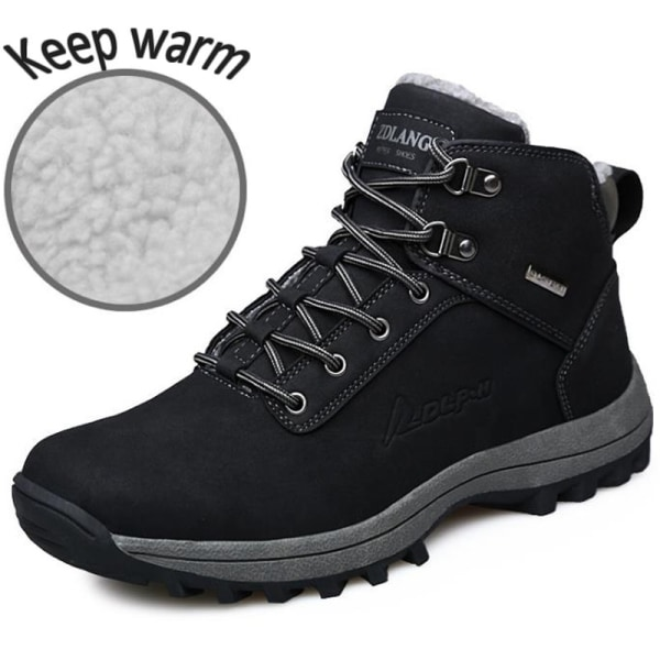 Herr Snow Boots Outdoor Vandring Trainers varmare sportskor black 40