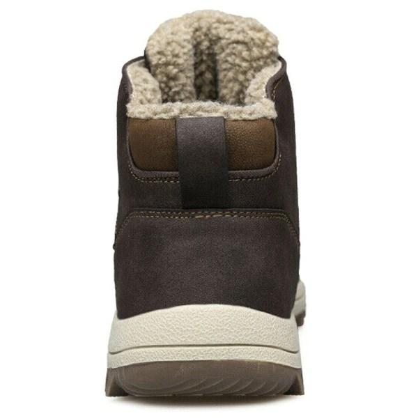 Herr Snow Boots Outdoor Vandring Trainers varmare sportskor light brown 42