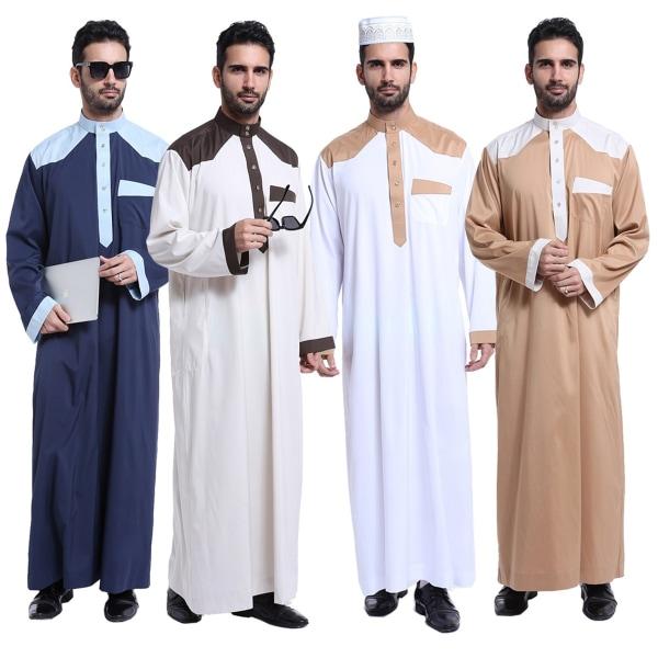Män Robe Kaftan Plus Size Abaya camel XL