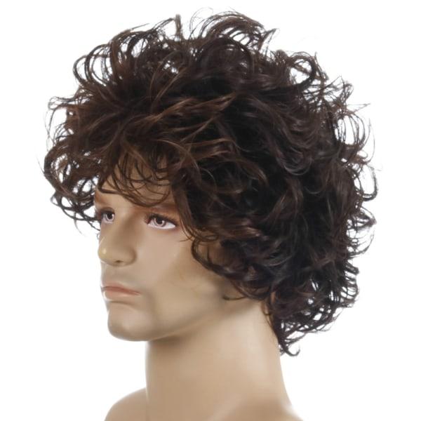 Andningsbart herrigt fluffigt naturligt kort lockigt hår bekvämt As pic