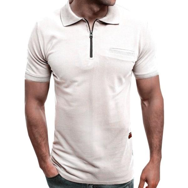 T-shirt med t-shirt för män navy blue 2XL
