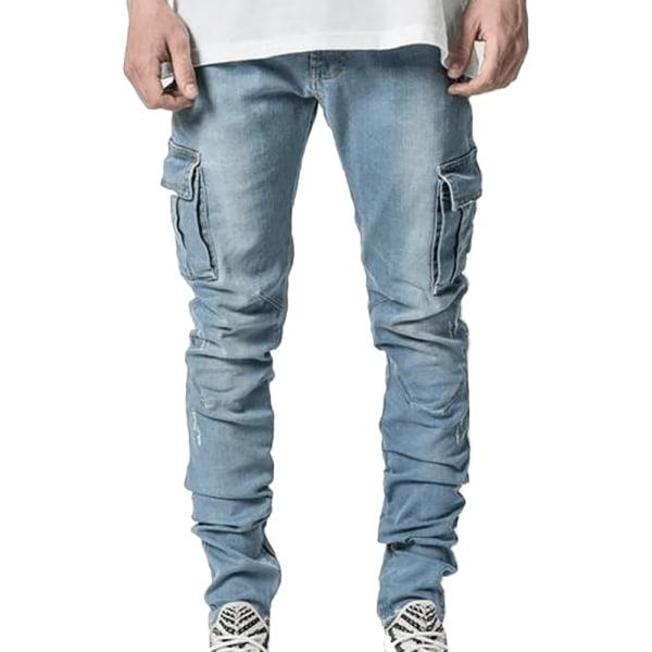 Mäns jeans med sidofickor Black L