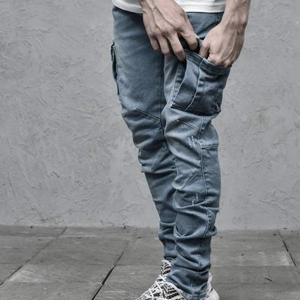 Mäns jeans med sidofickor Blue XL