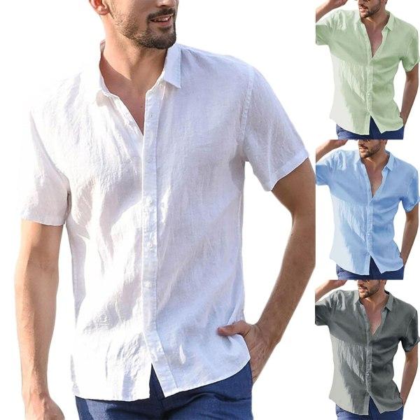 Sommarbomullsblandning för män herr Enfärgad gray S