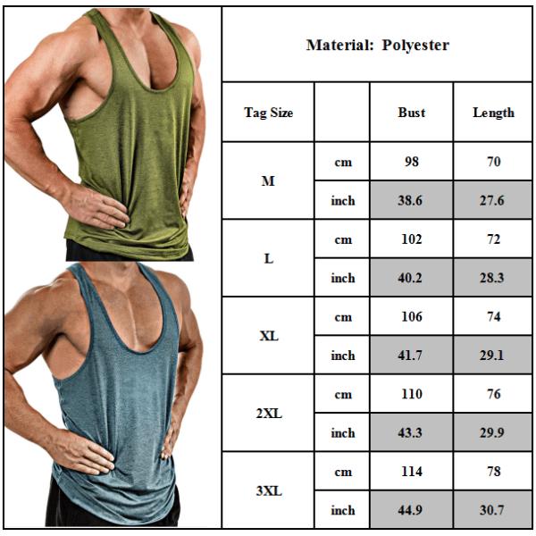 Mäns sommar ärmlösa gym sport linne Fitness träningsväst Army Green L