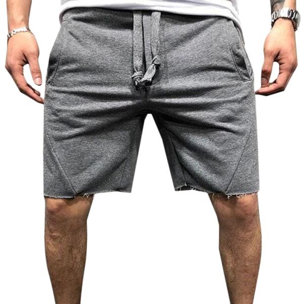 Mäns svettshorts elastiska träningsbyxor Deep Grey S