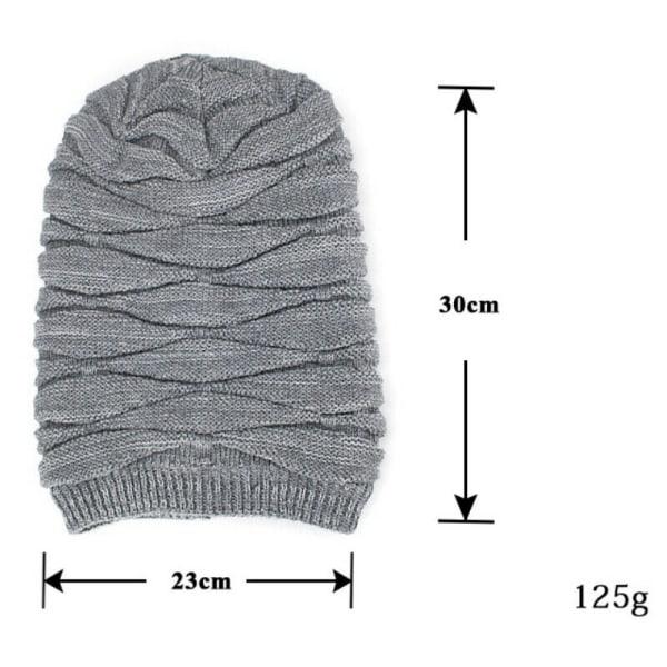 Män Kvinnor Varm Varm Stickad Woolly Cap Skateboard Grey