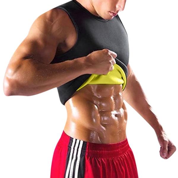 Träningsväst för män Kalorier Bunner Shapwear Top med bastueffekt M