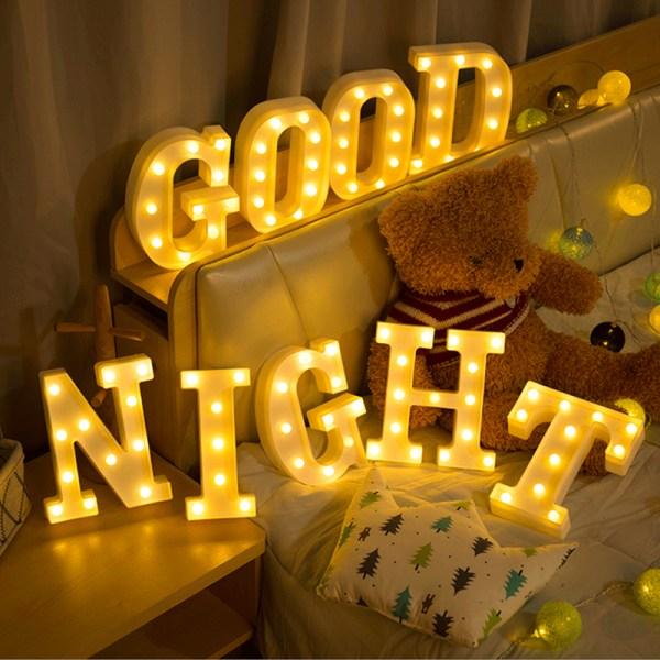 Party Letter Symbol LEN Night Light Heminredning Light Presenter V