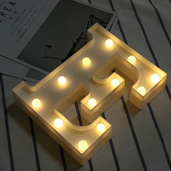 Party Letter Symbol LEN Night Light Heminredning Light Presenter E