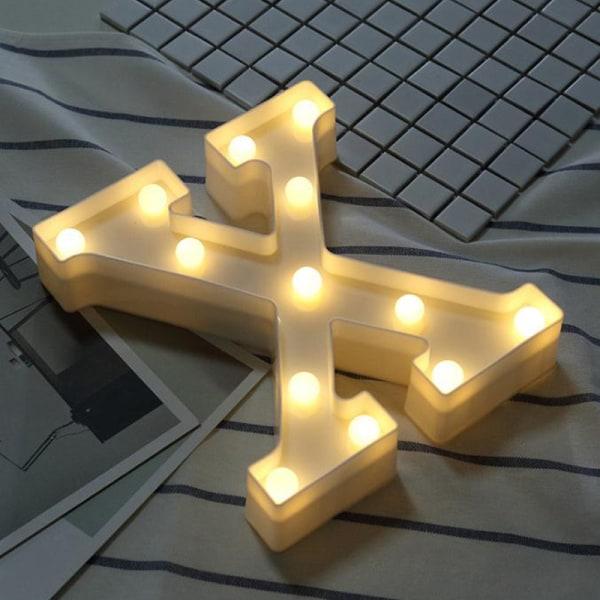 Party Letter Symbol LEN Night Light Heminredning Light Presenter X