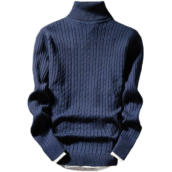 Retro stil trendiga män mode stickad tröja black 2XL