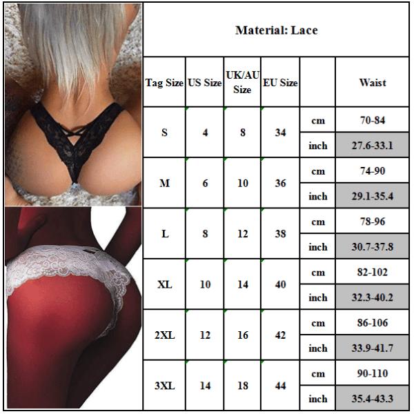 Sexiga underkläder underbyxor ren färg elastisk frestelse för kvinnor Black XL