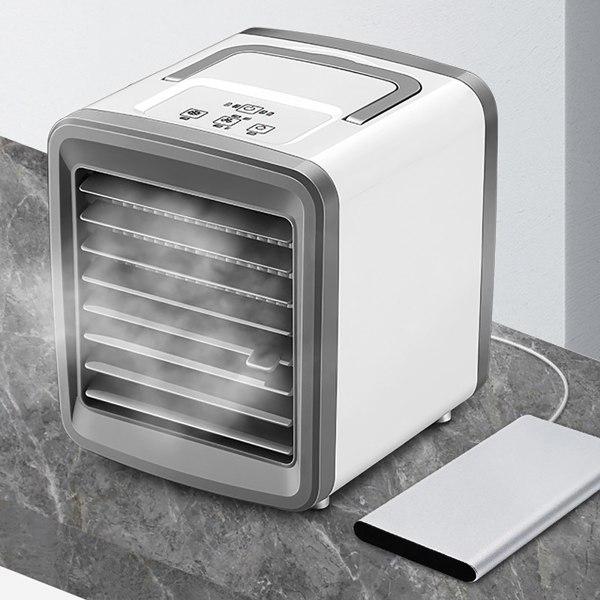 Liten bärbar luftkylare LED-lampa för sömn i kontorsrum Plug-in