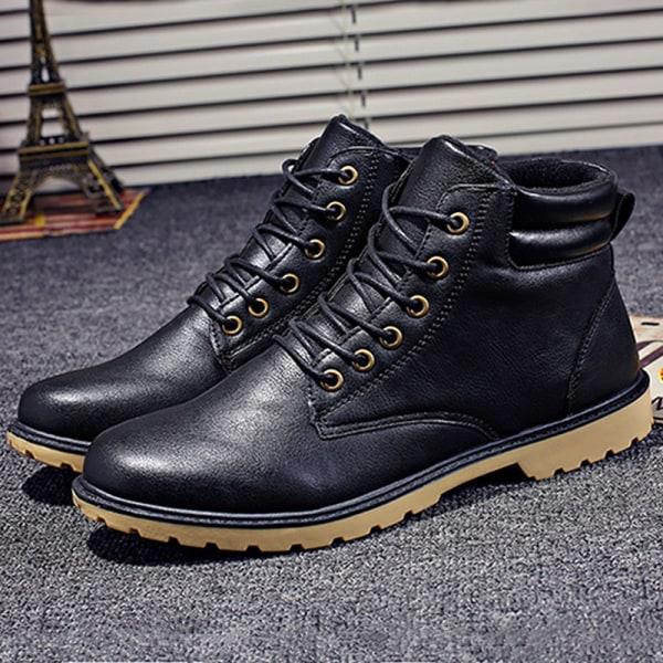 Snow Boots Skyddande och slitstarka Sole Man stövlar Black 44