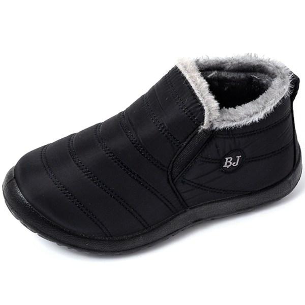 Snow Boots Varm päls plysch innersula plysch black 40
