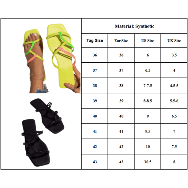Enfärgade platta sandaler och tofflor för kvinnor Essentials Khaki 40