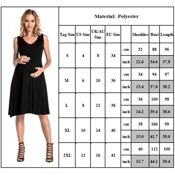 Enfärgad damväst vårdklänning ärmlös formell klänning Black S