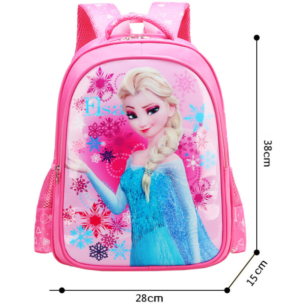 Spiderman Frozen Anime Cartoon Kids School Bag Stain Resistant Red Frozen