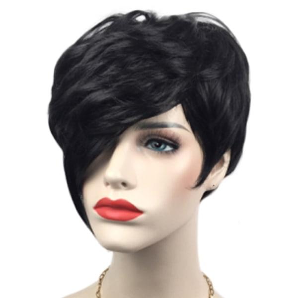 Snygga kvällspartier peruker kort hår Black