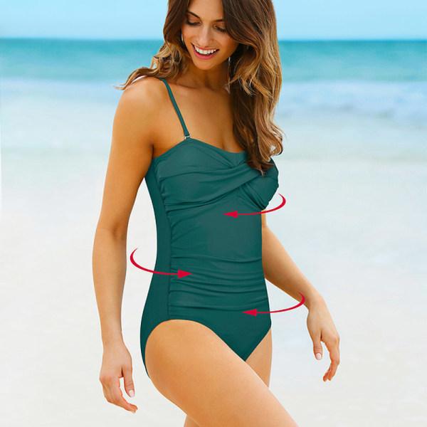 Summer Beach ser tunn baddräkt charmig justerbar ut Green 2XL