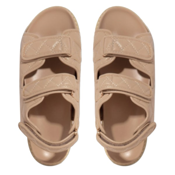 Sommar tjocka sulor kardborrskor dam matchande sandaler Khaki 42