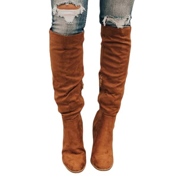 Trendiga kvinnor sexiga smala över knäet brown 41