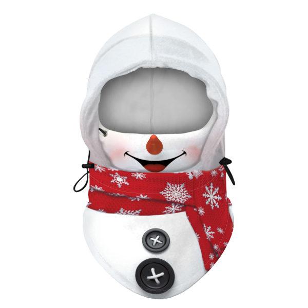 Unisex Christmas Santa Claus Balaclava Face Cover Xmas Scarf Hat Mulitcolor