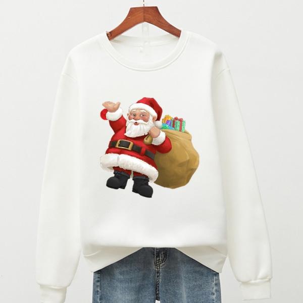 Unisex jul jultomten tröja tröja White L