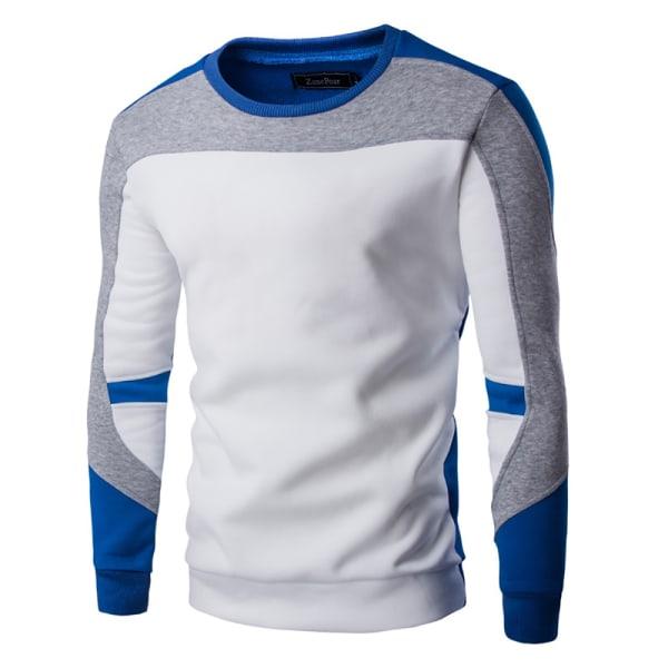 Vintersporttröja för män långärmad tröja White M