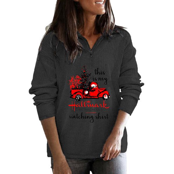 Kvinnor jul långärmad tröja blus Baggy tröja topp Dark Grey L