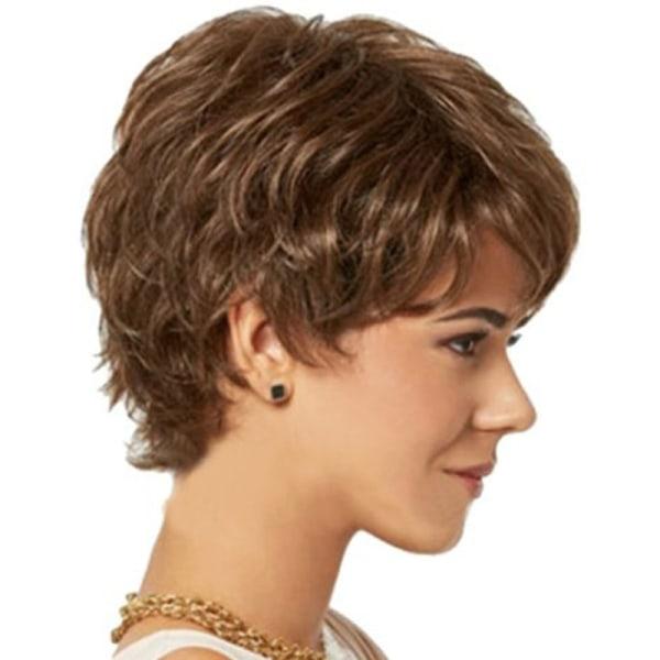 Kvinnors lockiga pärlor naturliga peruker Brown