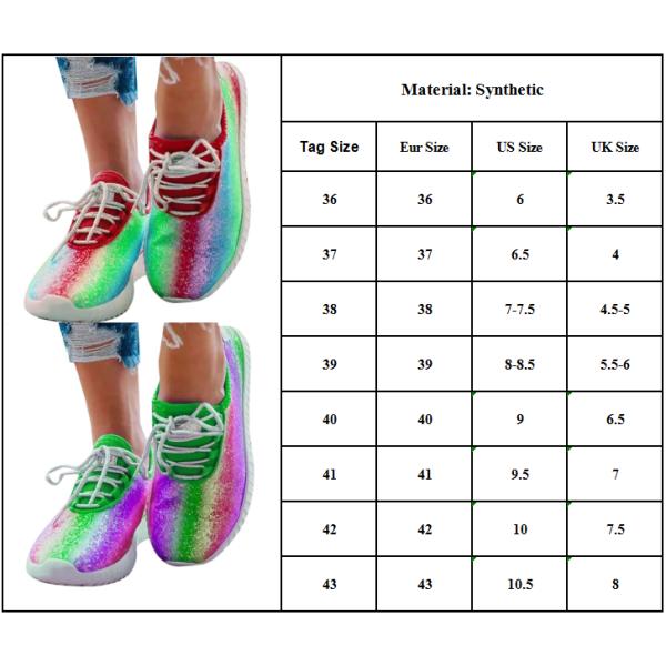 Kvinnor Flat Snörning Sneakers Jogging Trainer Sports Löparskor Purple 36