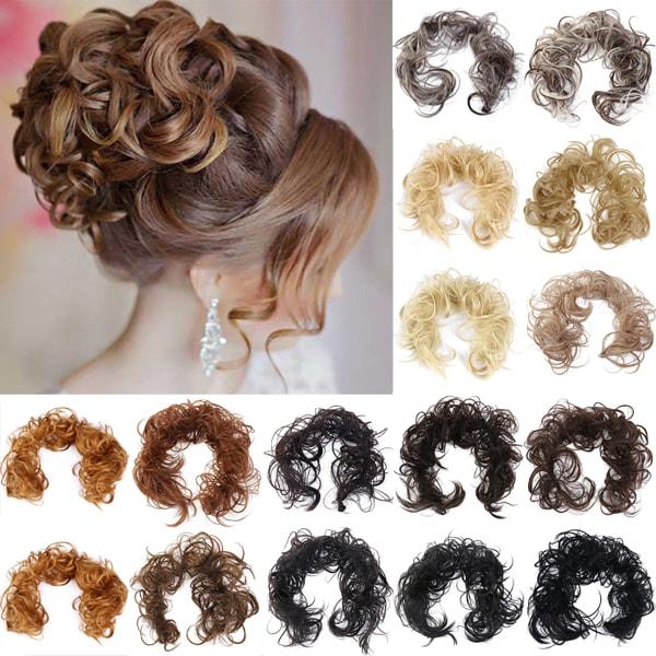 Kvinnors hårstycken Scrunchie Cover Bride Curly Hair Extensions 12#