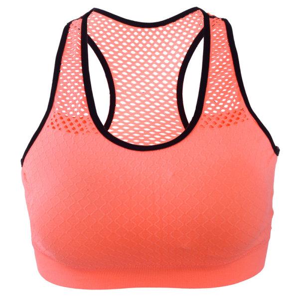 Kvinnor Hela sportunderkläder utan stålring Mesh snyggt Orange-red S