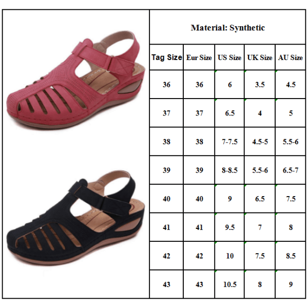 Kvinnor ortopediska platta sandaler Wedge Comfy Summer Beach Purple 38