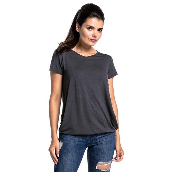 Dam Komfort Enfärgad kortärmad amningst-shirt Graphite S