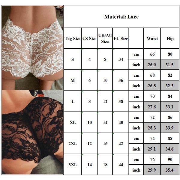 Kvinnors rena färgperspektiv Temptation Boxer sexiga underkläder White L