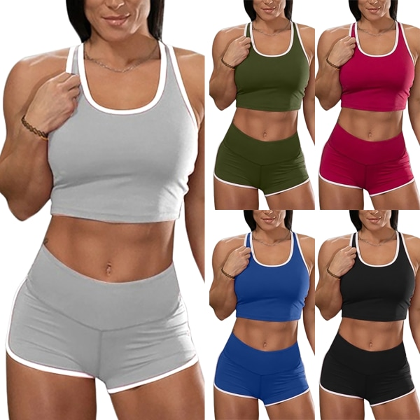Löpande sportkläder för kvinnor för träningskläder Black 2XL