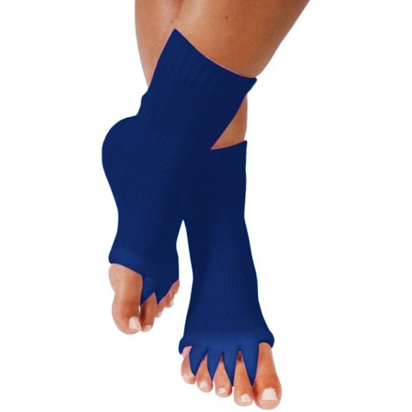 Yoga Gym Sport Massage Five Toe Separator Bekväma strumpor Blue