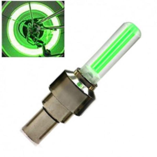 LED-lampa till däckventil grön 2-pack