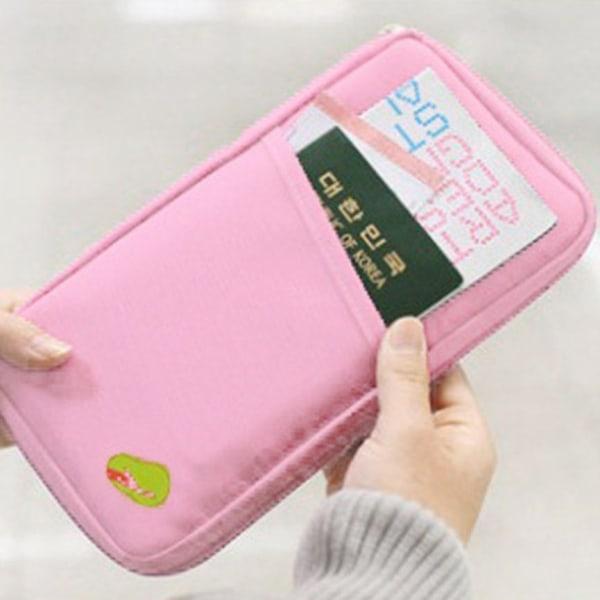 Reseplånbok för pengar/pass/värdesaker