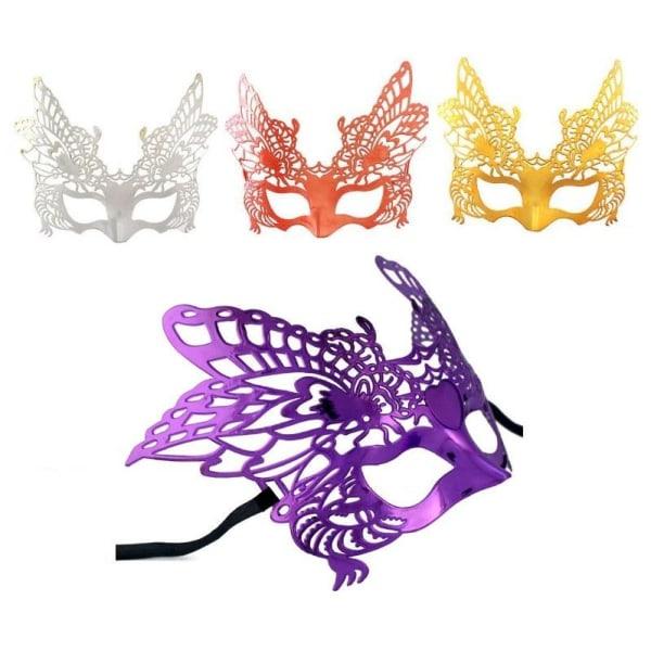 Maskeradmask butterfly silver