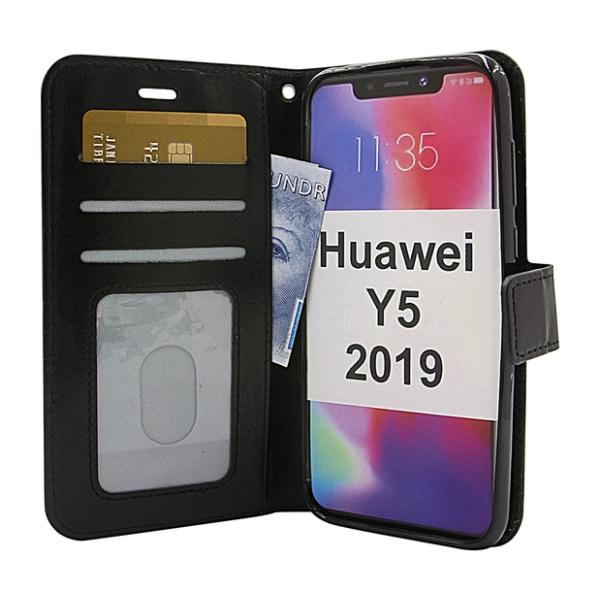 Crazy Horse Wallet Huawei Y5 2019 Hotpink