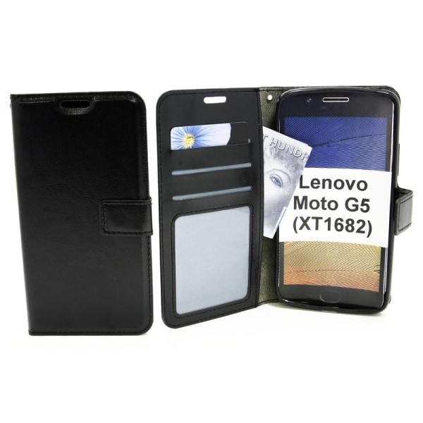Crazy Horse Wallet Lenovo Moto G5 (XT1682 / XT1676) Vit