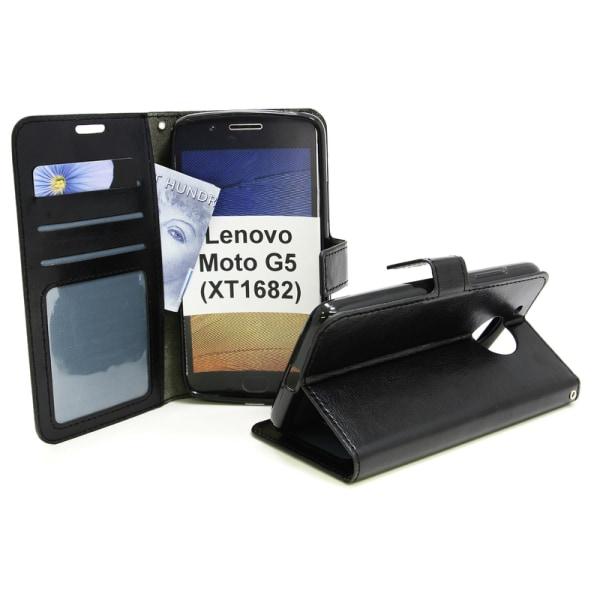 Crazy Horse Wallet Lenovo Moto G5 (XT1682 / XT1676) Svart