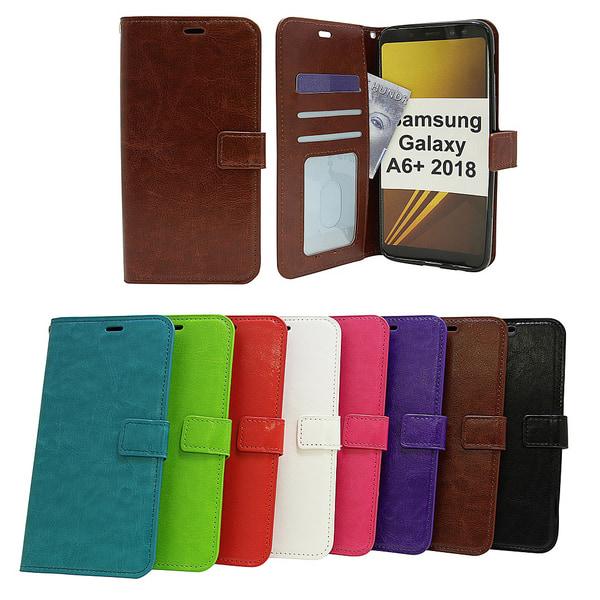 Crazy Horse Wallet Samsung Galaxy A6+ 2018 (A605FN/DS) Turkos
